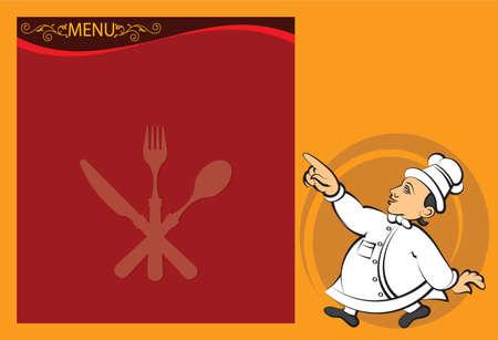 Chef Menu Card Design Template Vector Art Vector
