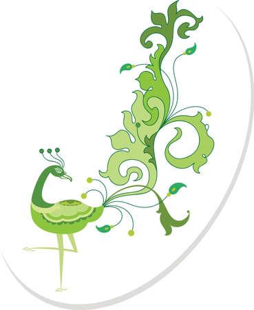 Peacock Artistic Hand Drawn Vector Art Vector