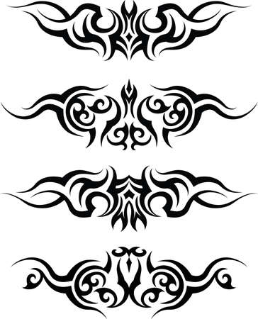 Tattoo Arm Band Set Vector Art Vector