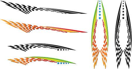 Graphics véhicule, Stripe: Vinyle Prêt Vector Art Banque d'images - 31973839