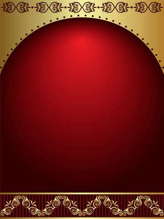 Card Design Artistic Metallic Gold Vector Art Illustration
