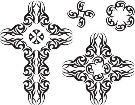 Tattoo Christian Cross Vector Art Vector