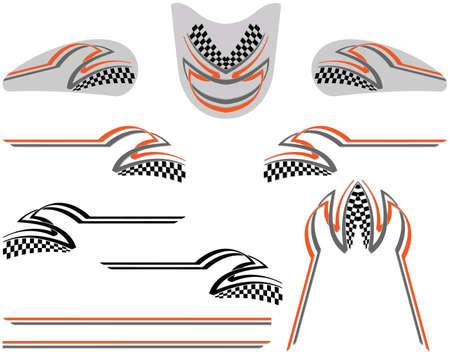 車のグラフィック、ストライプ: ビニール準備ベクター アート 写真素材 - 31974166