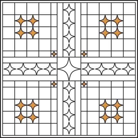 Wrought Iron Grill, Gate, Door, Fence, Window, Railing Design Vector Art Vector