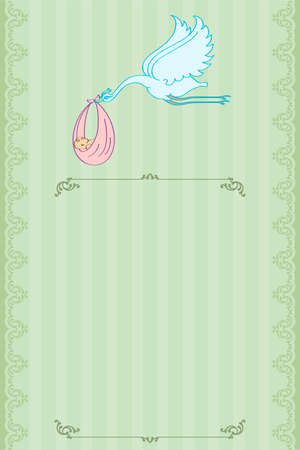 Baby Shower Card Design Vector Art Vector