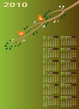 Calendar Design 2010 Vector Art Vector