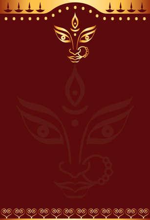 Durga Goddess of Power Vector Art Vector