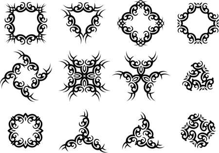 bracelet tattoo: Tribal Tattoo Design Vector Art