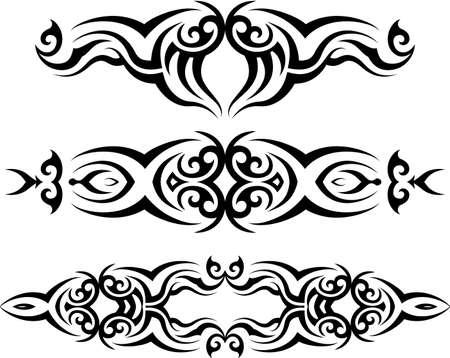 部族の入れ墨デザイン ベクトル アート
