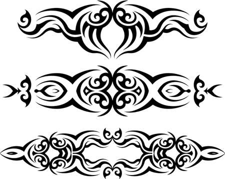 Tribal Tattoo Design vector kunst Stock Illustratie