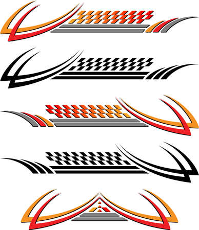 Vehicle Graphics, Stripe : Vinyl Ready Vector Art Vector