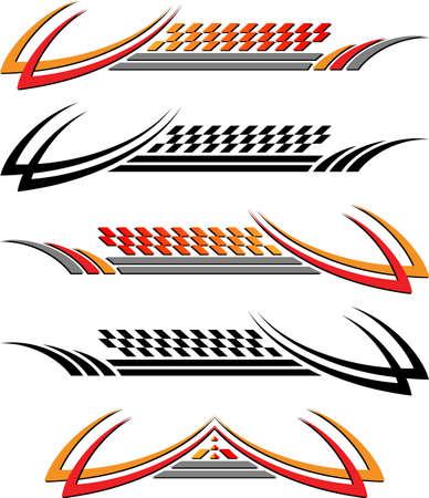 Vehicle Graphics, Stripe : Vinyl Ready Vector Art Vector