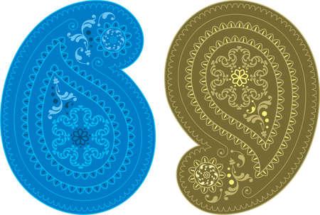 paisley wallpaper: Paisley Design (Can Be Used For Textile, Batik Print) Vector Art Illustration