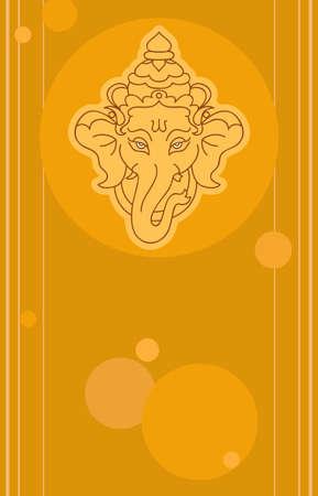ganesh: Ganesha El se�or de la sabidur�a arte vectorial Vectores