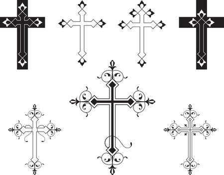 Christian Cross Design Vector Art Vector