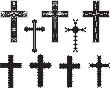 Christian Cross Design Vector Art Vector