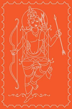 ramayan: Folk Style Ram Vector Art