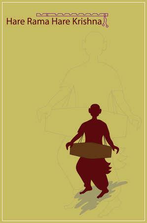 rama: Hare Rama Hari Krishna Vector Art Illustration