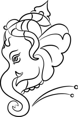 Ganesha The Lord Of Wisdom Vector Art Vector