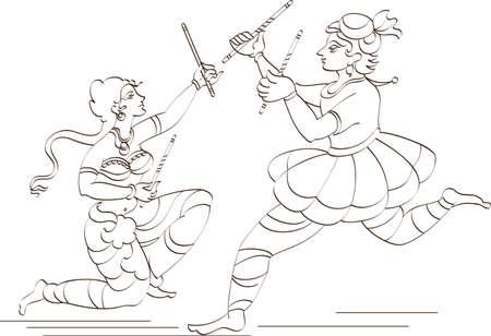 Garba Indian Dance Vector Art Vector