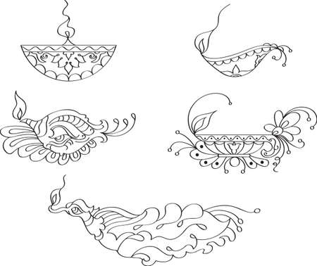 deepak: Deepak Ornamental Design Collection Vector Art