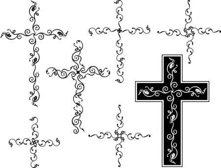 Christian Cross Collection Vector Art Vector
