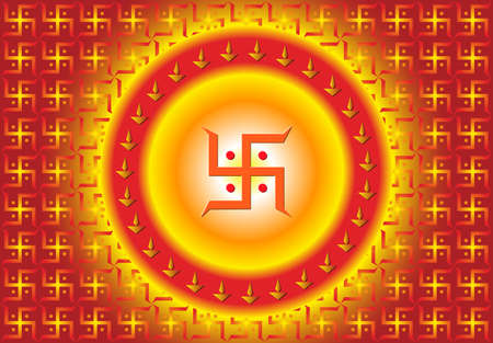 swastik: Swastica Symbol The Holy Motif Vector Art