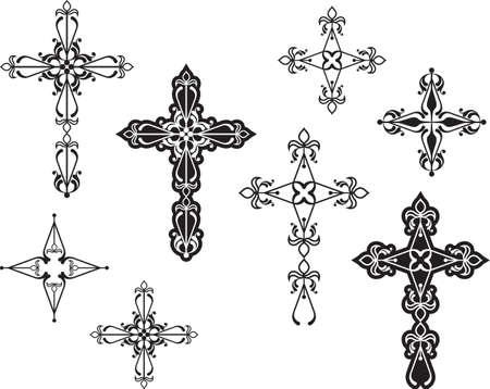 Art Croix chrétienne Vector Design