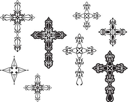 Christian Cross Design vector kunst