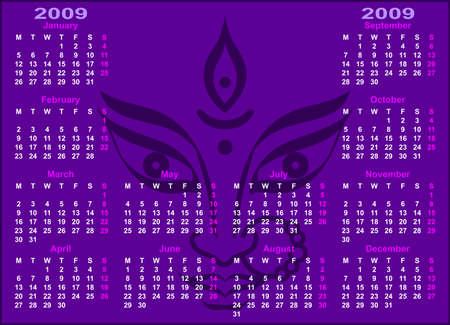 Calendar Design 2009 Vector Art Vector