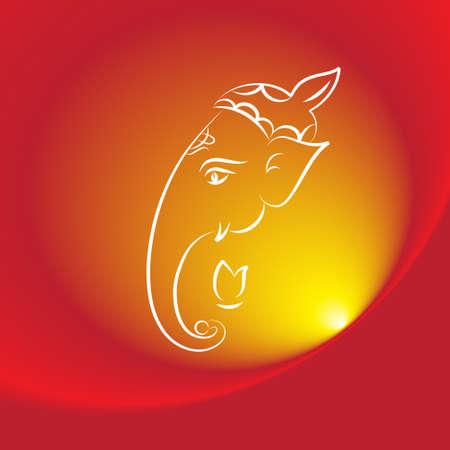gods: Ganesha The Lord Of Wisdom Vector Art Illustration