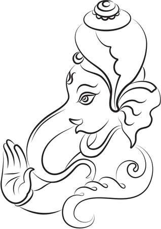 god of wealth: Ganesha The Lord Of Wisdom Vector Art Illustration