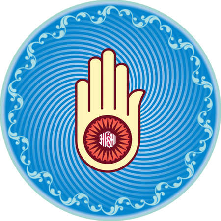 jain: Jain Emblem, Flag, Swastica Vector Art