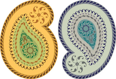 Paisley Design (Can Be Used For Textile, Batik Print) Vector Art Vector