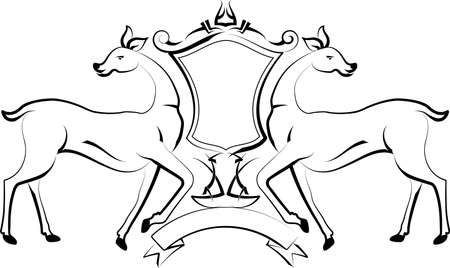 bracelet tattoo: Tattoo Deer Design Vector Art