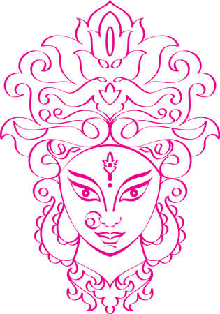 Durga Goddess of Power Vector Art Vector