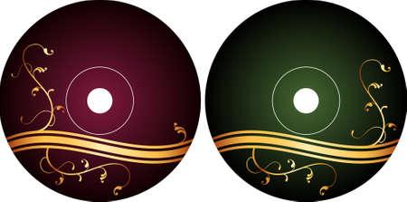 cd label: Cd - Dvd Label Design Template Vector Art
