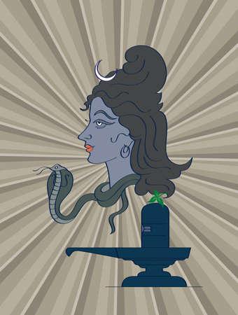 shivling: Shiva The Hindu God Vector Art
