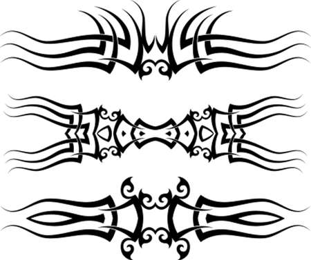 tattoo arm: Tattoo Arm Band Set Vector Art