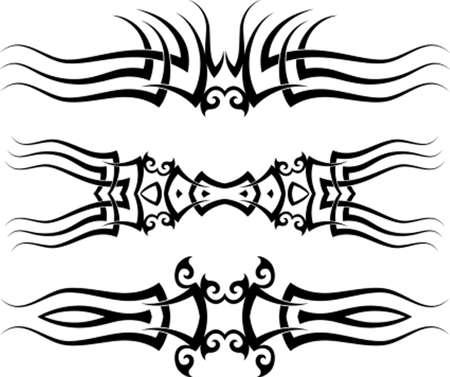 Tattoo Arm Band Set Vector Art