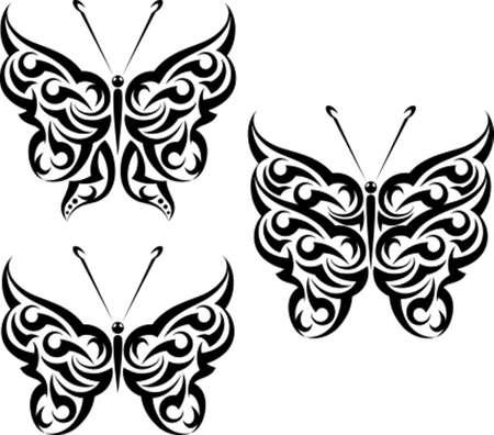 farfalla tatuaggio: Tattoo Art farfalla disegno vettoriale