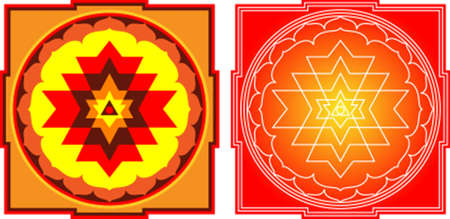 Shree Yantra: Shree = Wealth, Yantra = Instrument. It Is The Most Auspicious, Important And  Powerful Yantra. Vector Art