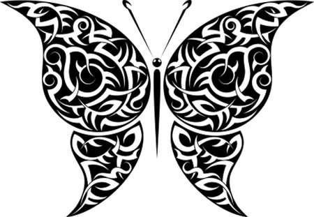 tatoo: Tattoo Butterfly Design Vector Art
