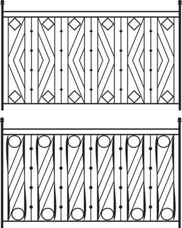 portones: Puerta de hierro forjado, puerta, valla, ventana, Grill, Arte Baranda Dise�o vectorial