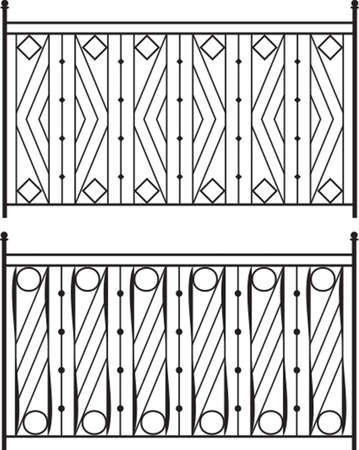 wrought: Wrought Iron Gate, Door, Fence, Window, Grill, Railing Design Vector Art