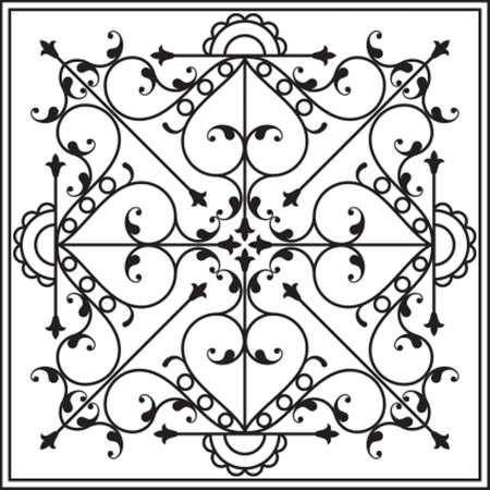 cast iron: Wrought Iron Gate, Door, Fence, Window, Grill, Railing Design Vector Art