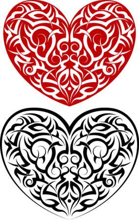 Tattoo Heart Design Vector Art Vector