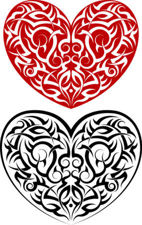 Tattoo Heart Design Vector Art Vector