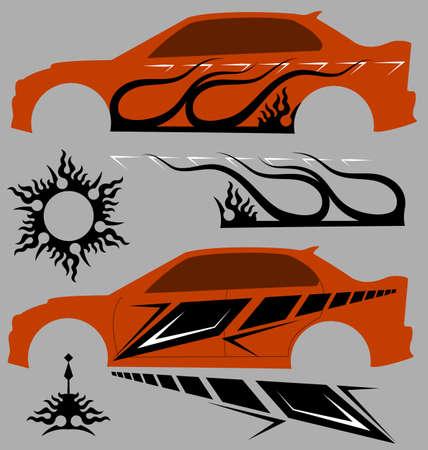 Vehicle Graphics, Stripe: vinile vettoriali Archivio Fotografico - 45476807