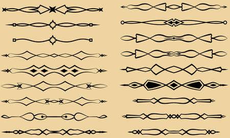 separator: Text Divider Ornamental Design Vector Art Illustration